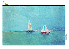 Carry-all Pouch featuring the painting Summer Breeze-e by Jean Plout