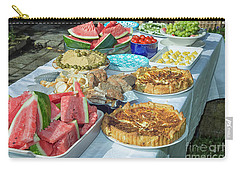 Summer Buffet In Garden Carry-all Pouch by Patricia Hofmeester