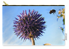 Carry-all Pouch featuring the photograph Summer Busy Bee by Roger Bester