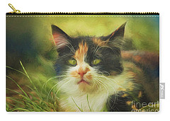 Carry-all Pouch featuring the photograph Summer Cat by Jutta Maria Pusl