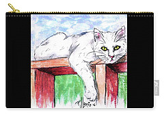 Summer Cat Carry-all Pouch by P J Lewis