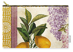 Summer Citrus Lemon Carry-all Pouch by Mindy Sommers
