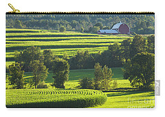 Summer Cornfield Landscape Carry-all Pouch by Alan L Graham