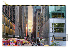Carry-all Pouch featuring the photograph Summer Evening, New York City  -17705-17711 by John Bald