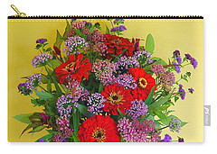 Carry-all Pouch featuring the photograph Summer Flower Bouquet by Byron Varvarigos