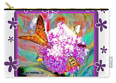 Summer Flower Feeding Frenzy Carry-all Pouch