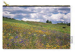 Carry-all Pouch featuring the photograph Summer Flowers by Tom Singleton