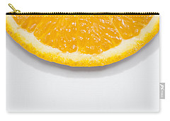Summer Fruit Orange Slice On Studio Copyspace Carry-all Pouch by Jorgo Photography - Wall Art Gallery