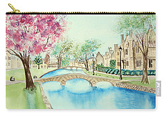 Carry-all Pouch featuring the painting Summer In Bourton by Elizabeth Lock