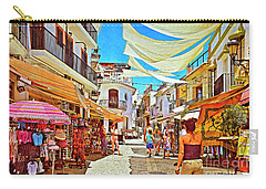 Carry-all Pouch featuring the photograph Summer In Malaga by Mary Machare