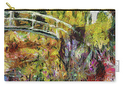 Summer In Monet's Garden Carry-all Pouch by Dragica Micki Fortuna