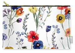 Poppies Carry-all Pouches