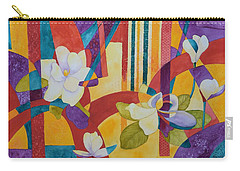 Summer Magnolias Carry-all Pouch by Nancy Jolley