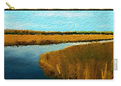 Carry-all Pouch featuring the digital art Summer Marsh South Carolina Lowcountry by Anthony Fishburne
