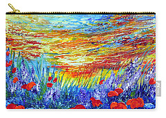 Carry-all Pouch featuring the painting Summer Meadow by Teresa Wegrzyn