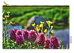 Carry-all Pouch featuring the photograph Summer Morning Blossoms by Marie Leslie