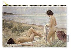 Summer On The Beach Carry-all Pouch by Paul Fischer
