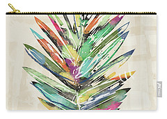 Carry-all Pouch featuring the mixed media Summer Palm Leaf- Art By Linda Woods by Linda Woods