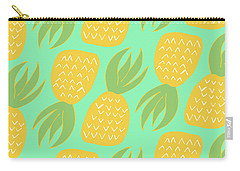 Summer Pineapples Carry-all Pouch by Allyson Johnson