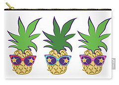 Summer Pineapples Wearing Retro Sunglasses Carry-all Pouch