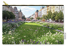 Carry-all Pouch featuring the photograph Summer Prague by Jenny Rainbow