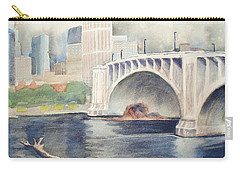 Summer Rain Carry-all Pouch by Marilyn Jacobson
