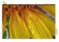 Summer Rain On Sunflower Carry-all Pouch