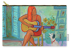 Carry-all Pouch featuring the painting Summer Serenade II by Xueling Zou