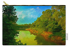 Summer Soft Morning Creek Carry-all Pouch