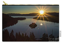 Carry-all Pouch featuring the photograph Summer Solstice Emerald Bay by Mitch Shindelbower