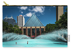 Carry-all Pouch featuring the photograph Summer Splash Downtown Edmonton by Darcy Michaelchuk