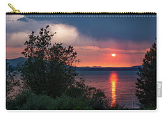 Carry-all Pouch featuring the photograph Summer Storm by Jan Davies