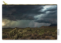 Carry-all Pouch featuring the photograph Summer Storm  by Saija Lehtonen