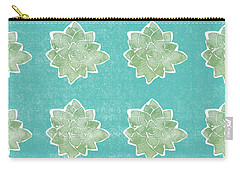 Summer Succulents- Art By Linda Woods Carry-all Pouch