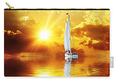 Carry-all Pouch featuring the mixed media Summer Sun And Fun by Gabriella Weninger - David