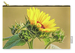 Carry-all Pouch featuring the photograph Summer Sunflower Floral by Jennie Marie Schell