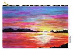 Carry-all Pouch featuring the painting Summer Sunrise by Sonya Nancy Capling-Bacle