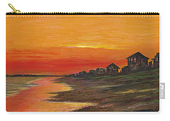 Summer Sunset At  Crystal Beach Carry-all Pouch
