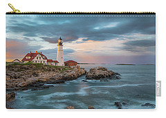 Summer Sunset At Portland Head Light Carry-all Pouch