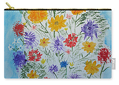 Carry-all Pouch featuring the painting Summer Tee by Barbara McDevitt