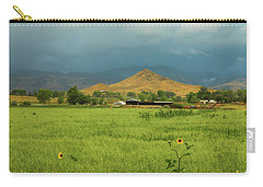 Carry-all Pouch featuring the photograph Summer View Of  Hay Stack Mountain by James BO Insogna