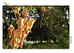 Carry-all Pouch featuring the photograph Summer's Toll by Robert Knight