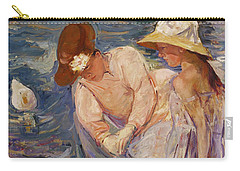 Carry-all Pouch featuring the painting Summertime By Mary Cassatt 1894 by Movie Poster Prints
