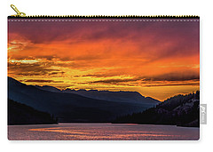 Summit Cove Sunset At Lake Dillon Carry-all Pouch by Stephen Johnson