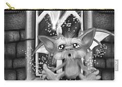 Summoned Pet - Black And White Fantasy Art Carry-all Pouch