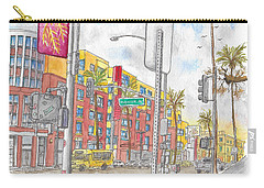 Sunset Blvd, And Hayworth, West Hollywood Carry-all Pouch by Carlos G Groppa