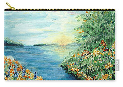 Sun And Moon Carry-all Pouch by Holly Carmichael