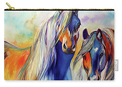 Sun And Shadow Equine Abstract Carry-all Pouch