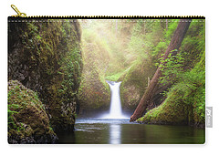 Sun Beams Over Punch Bowl Falls Carry-all Pouch