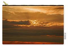 Sun Behind Dark Clouds In Vogelsberg Carry-all Pouch